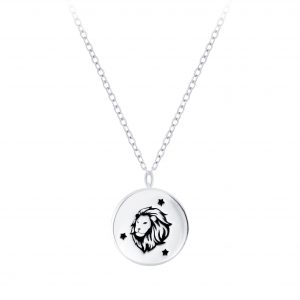 Wholesale Silver Leo Zodiac Sign Necklace