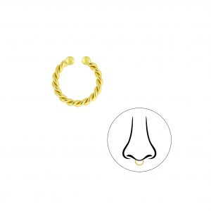 Wholesale Silver Twisted Septum Clip