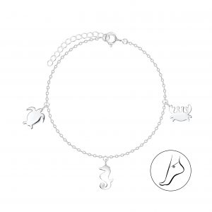 Wholesale Silver Ocean Life Anklet