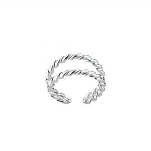 Wholesale Silver Double Line Ear Cuff