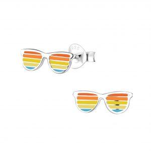 Wholesale Silver Sunglasses Stud Earrings