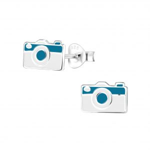 Wholesale Silver Camera Stud Earrings