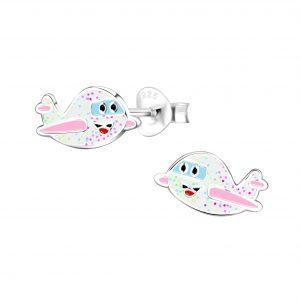 Wholesale Silver Airplane Stud Earrings