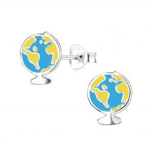 Wholesale Silver Earth Stud Earrings
