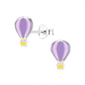 Wholesale Silver Hot Air Balloon Stud Earrings