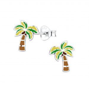Wholesale Silver Coconut Tree Stud Earrings