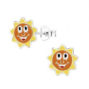 Wholesale Silver Sun Stud Earrings