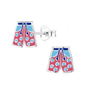 Wholesale Silver Swim Trunks Stud Earrings
