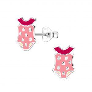 Wholesale Silver Swim Suit Stud Earrings
