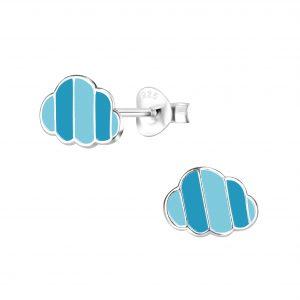 Wholesale Silver Cloud Stud Earrings