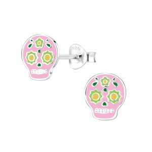 Wholesale Silver Skull Stud Earrings