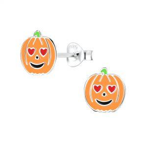Wholesale Silver Pumpkin Stud Earrings