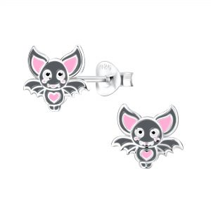 Wholesale Silver Bat Stud Earrings