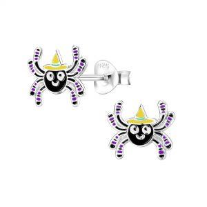 Wholesale Silver Spider Stud Earrings
