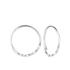Wholesale 18mm Silver Patterned Hoop Earrings