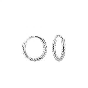 Wholesale 12mm Silver Twisted Hoop Earrings