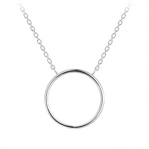 Wholesale Silver Circle Necklace