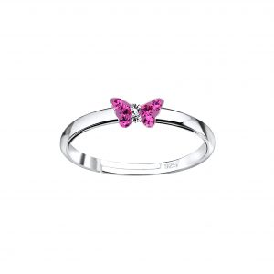 Wholesale Silver Butterfly Adjustable Ring