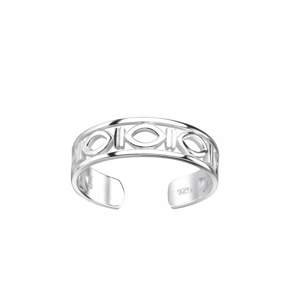 Wholesale Silver Ellipse Toe Ring
