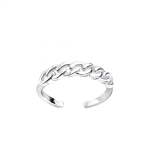 Wholesale Silver Patterned Toe Ring