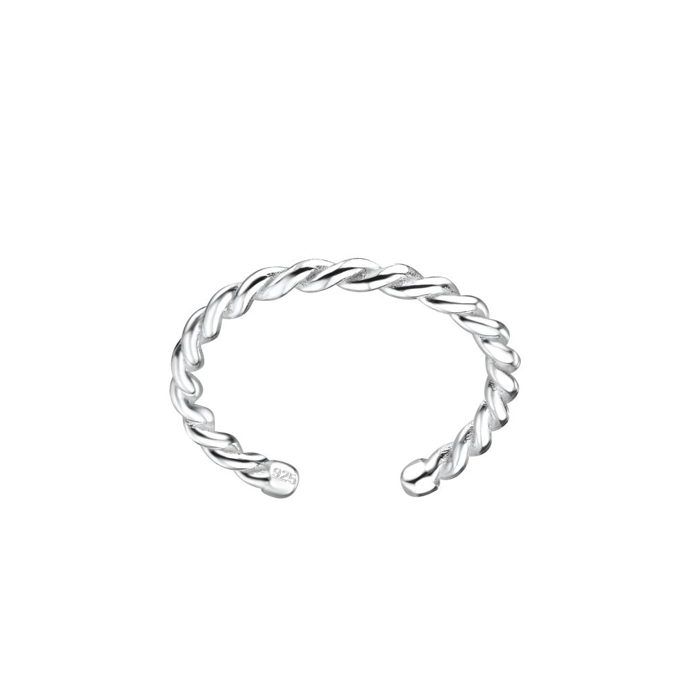 Wholesale Silver Twisted Toe Ring