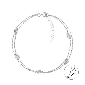 Wholesale Silver Leaf Constellation Anklet