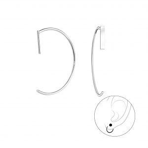 Wholesale Silver Bar Ear Huggers