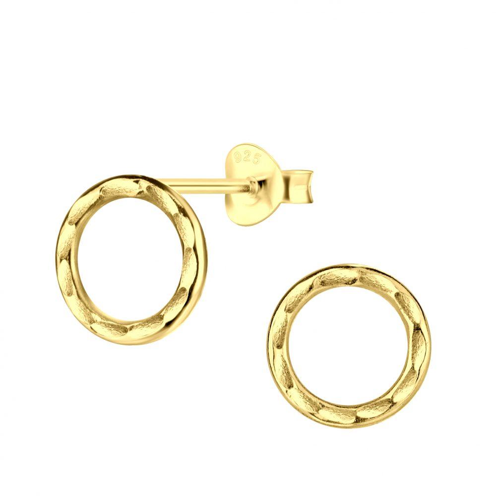 Wholesale Silver Circle Stud Earrings