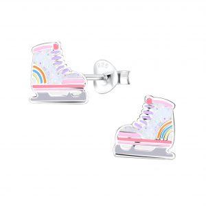 Wholesale Silver Roller Blade Stud Earrings