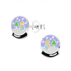 Wholesale Silver Snow Ball Stud Earrings