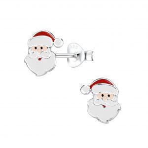 Wholesale Silver Santa Claus Stud Earrings