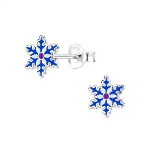 Wholesale Silver Snowflake Stud Earrings