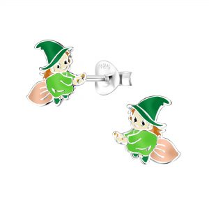 Wholesale Silver Witch Stud Earrings