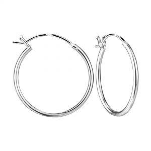 Wholesale 20mm Silver French Lock Hoop Earrings
