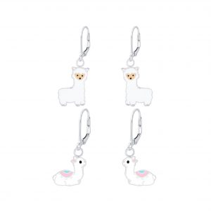 Wholesale Silver Alpaca Lever Back Earrings Set