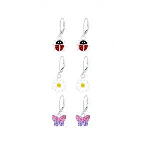 Wholesale Silver Garden Lever Back Earrings Set