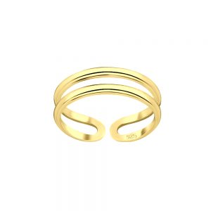 Wholesale Silver Double Line Adjustable Toe Ring