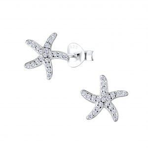 Wholesale Silver Starfish Stud Earrings