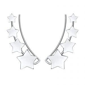 Wholesale Silver Star Ear Climber