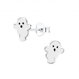 Wholesale Silver Ghost Stud Earrings