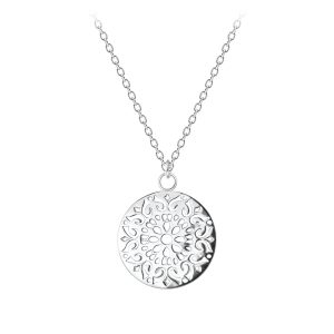 Wholesale Silver Round Filigree Necklace