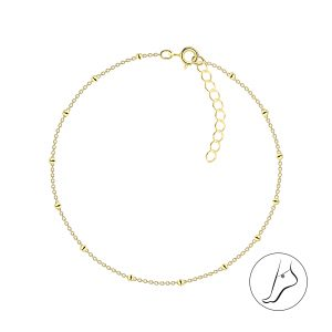 Wholesale 25cm Silver Satellite Anklet With Extension