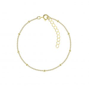 Wholesale 18cm Silver Satellite Bracelet With Extension