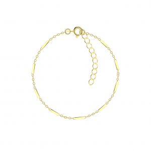 Wholesale 18cm Silver Cable Bar Bracelet With Extension