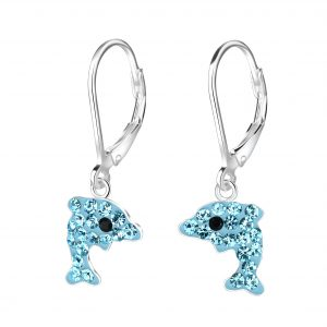 Wholesale Silver Dolphin Lever Back Earrings