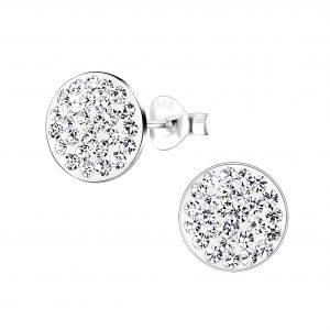 Wholesale Silver Round Stud Earrings