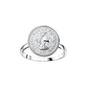 Wholesale Silver Coin Open Ring