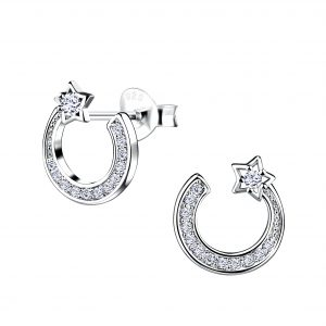 Wholesale Silver Shooting Star Stud Earrings