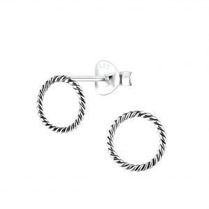 Wholesale Silver Twist Stud Earrings