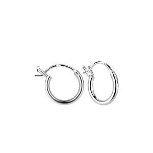 Wholesale 10mm Silver French Lock Hoop Earrings